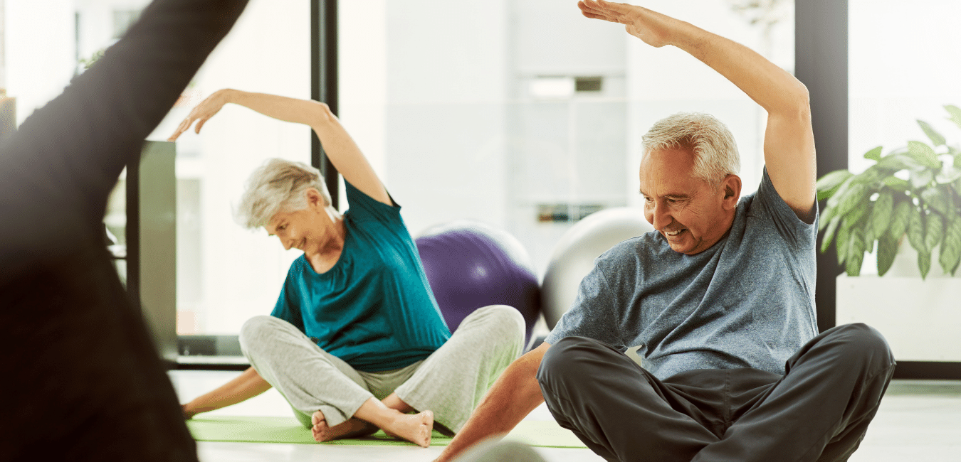 One of the ways to help seniors reverse aging is to get them on an exercise regimen shown in the photo here.